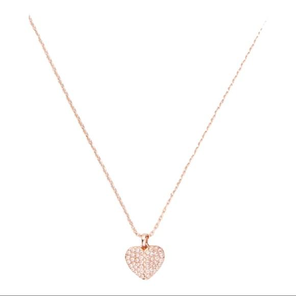 Kate Spade Heart to Heart Pave Mini Pendant